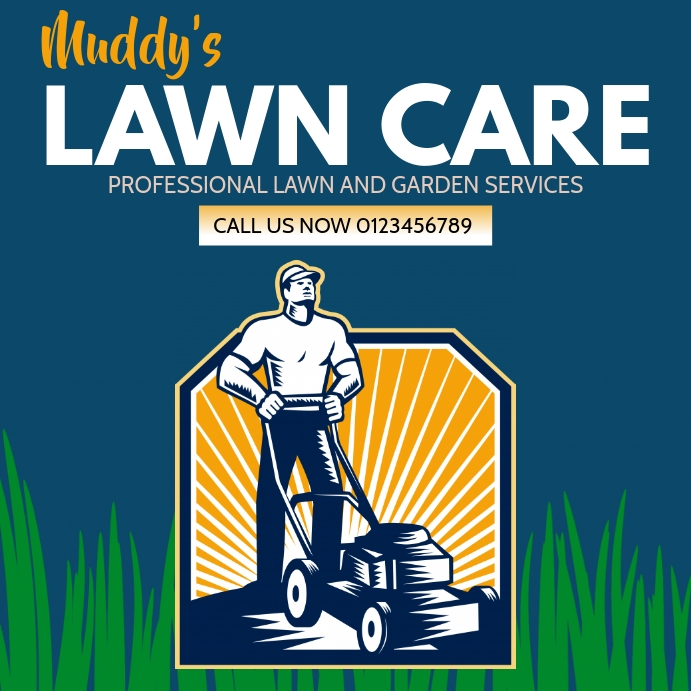 Lawn Care Instagram Post Template