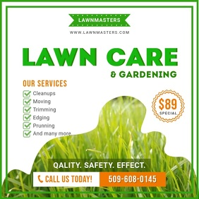 Lawn Care Instagram video Cuadrado (1:1) template