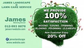 Lawn care name card design template
