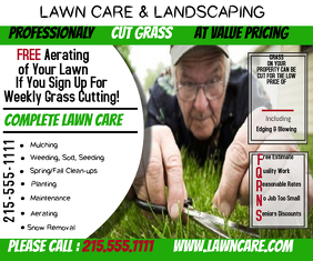 Lawn Care Large Rectangle template