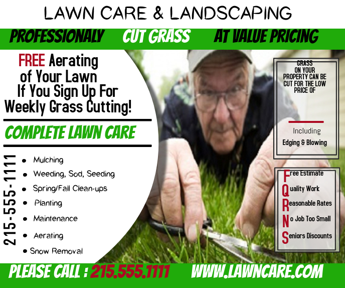 Lawn Care Grand rectangle template