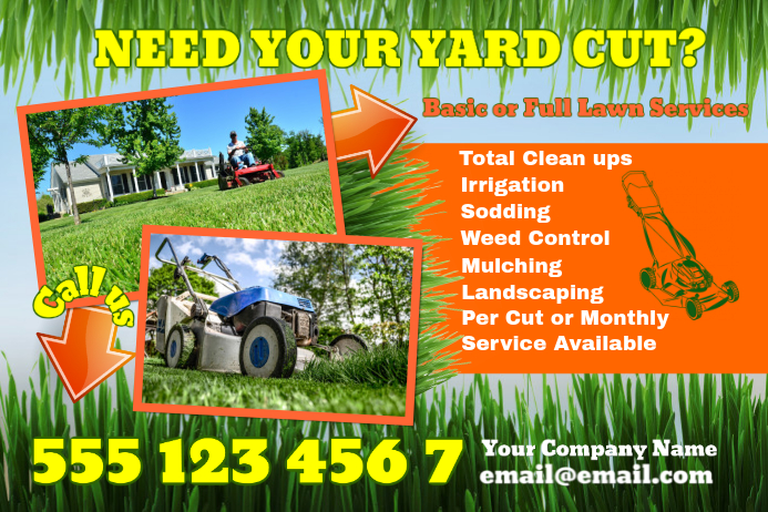 Lawn Care Poster Template | PosterMyWall
