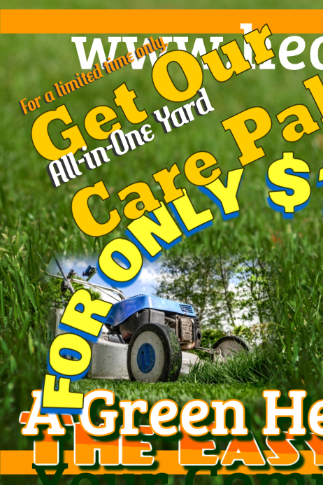 lawn care flyers template