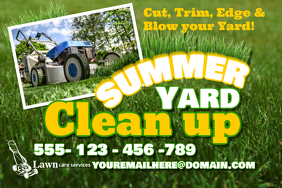 Lawn Care Poster Template