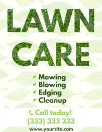 Lawn care service leaves promo flyer