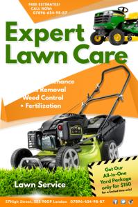 Lawn care service poster