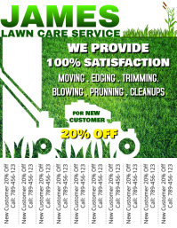 Lawn Care Service Tear Off Design
