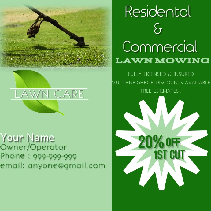 Lawn Care Video flyer