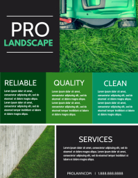 Lawn Flyer (US Letter) template