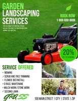 Lawn Equipment Sale Template