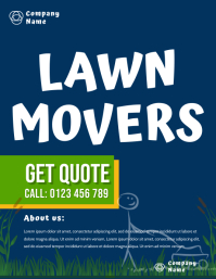 LAWN MOWERS flyer template