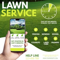 lawn mowing, lawn, lawn service, lawn care Instagram na Post template