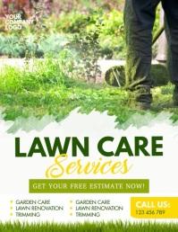 lawn mowing, lawn, lawn service, lawn care Løbeseddel (US Letter) template