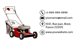 Lawn Mowing Business Card Back