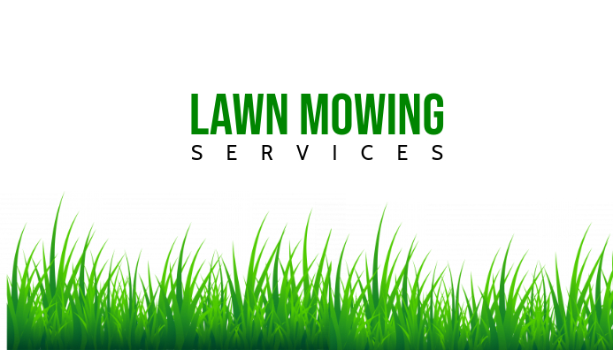 lawn mowing business card front template
