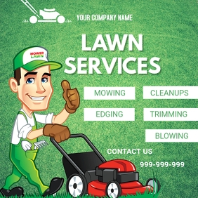 Lawn Mowing Instagram na Post template