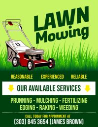 lawn mowing flyer lawn care services flyer
