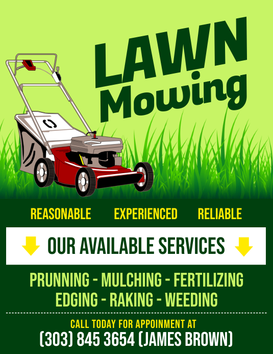 Lawn Mowing Flyer