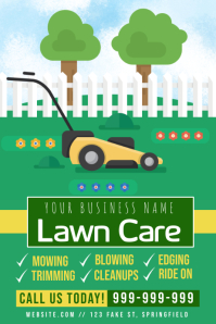 Lawn Mowing Poster