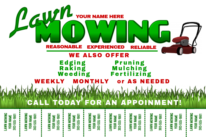 Lawn Mowing Template Postermywall