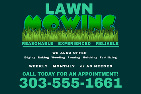 Lawn service flyer templates postermywall lawn mowing colourmoves