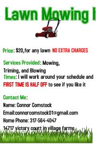 Lawn Mowing Info
