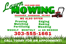 click a template to customize lawn mowing lawn mowing flyer