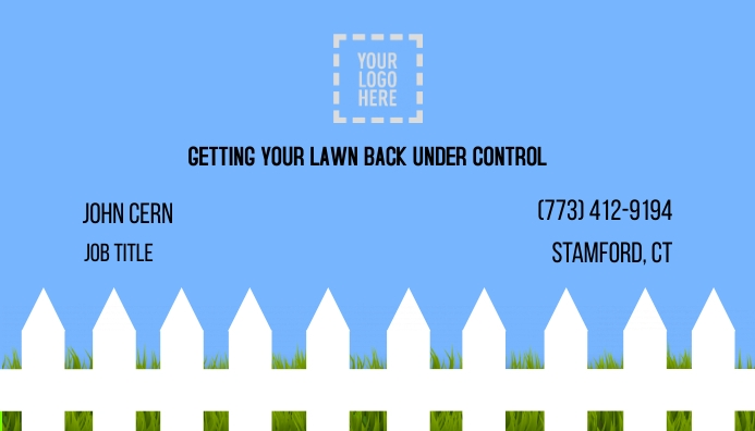 Lawn Mowing Service Business Card template