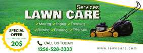 Lawn Mowing Service Facebook Header template