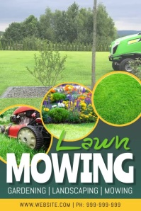 Lawn Mowing Service Video Poster template