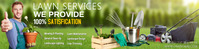 Lawn service banner template