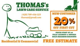 Lawn Service Business Card Wizytówka template
