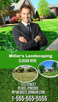 Lawn Service Business Card Template