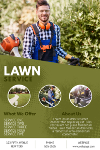 Lawn service business flyer template