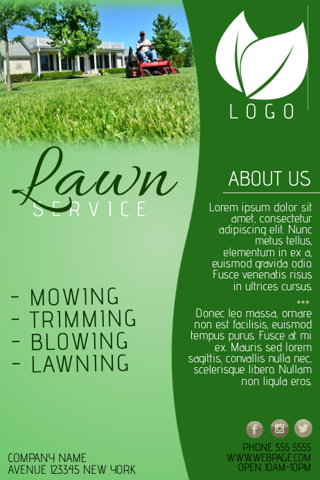 lawn service company flyer template