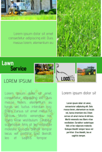 lawn service company flyer template newsletter green