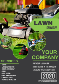 LAWN SERVICE A4 template