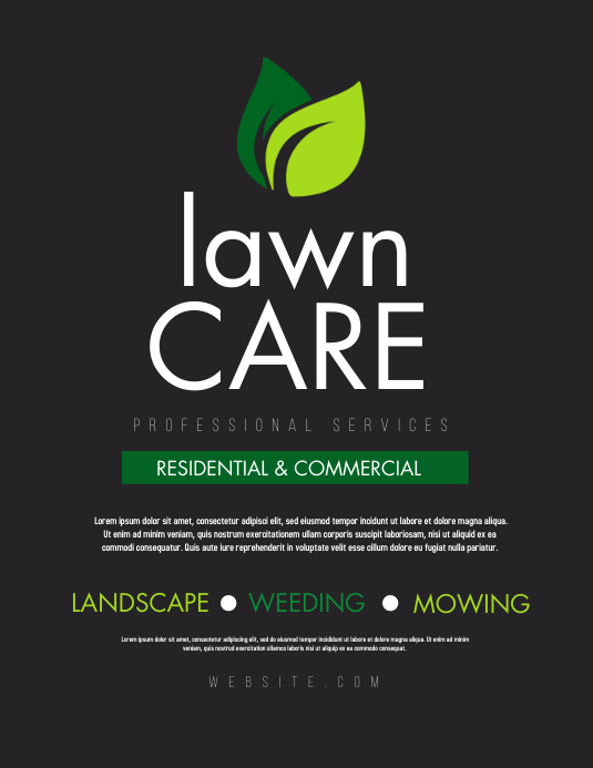 Lawn Service Flyer (US Letter) template