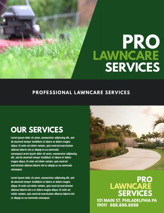 Lawn Service Pamflet (Letter AS) template