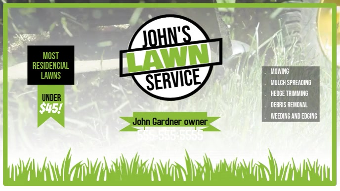 Lawn Service facebook Video template
