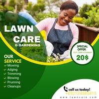lawn service flyer Instagram Post template