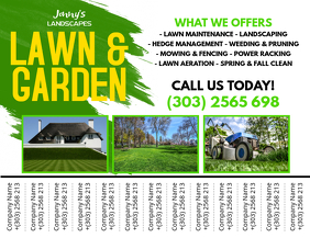 Lawn Service Flyer Templates PosterMyWall - Maintenance door hanger template