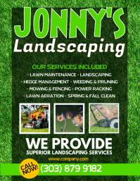 Lawn Service Flyer Templates PosterMyWall - Landscaping flyer templates