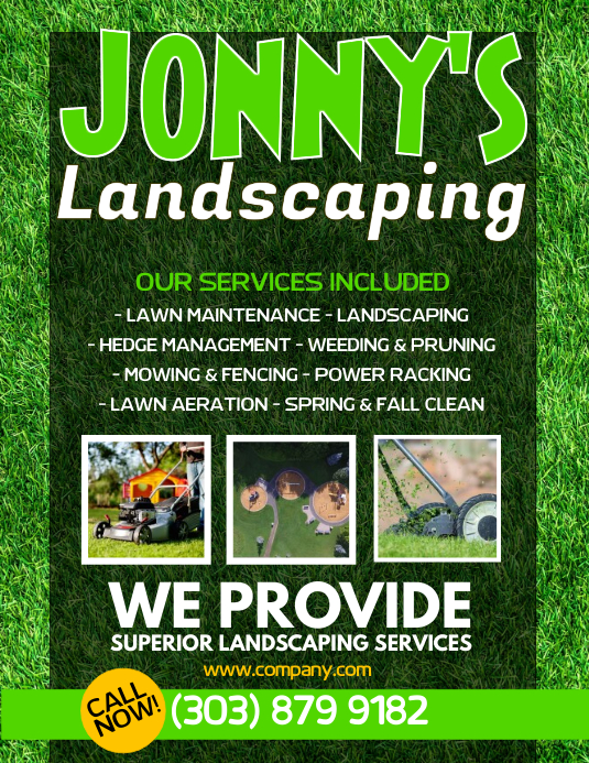 Lawn Service Flyer ใบปลิว (US Letter) template