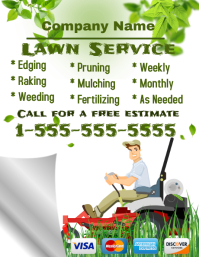 Lawn service flyer templates postermywall for Lawn care flyer template free