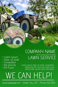 lawn service flyer template