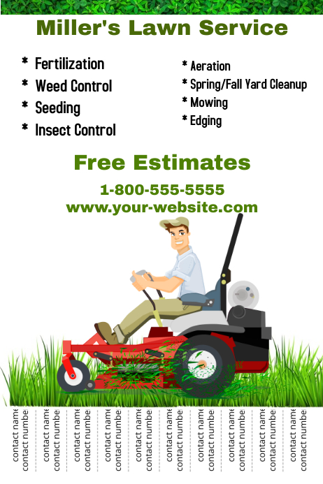 Lawn Service Template Poster