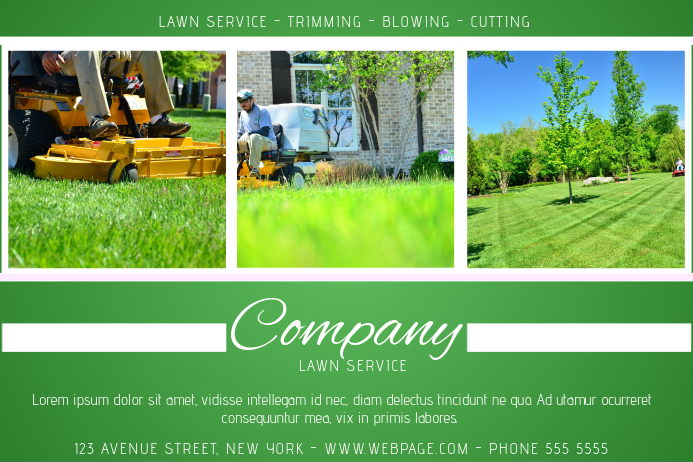 Lawn service green landscape flyer template postermywall for Garden maintenance flyer template