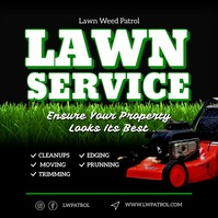 Lawn Service instagram post Square (1:1) template