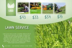 lawn service flyer template landscape green